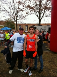 My dad, my mom and I before my debut marathon