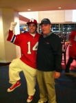 Stephen and Jake at Patriots game
